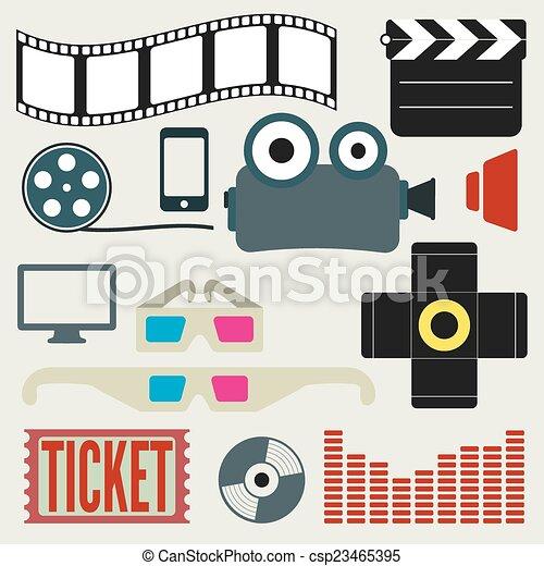 movie icons set - csp23465395