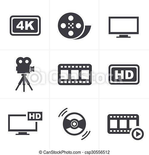 Movie icons set - csp30556512
