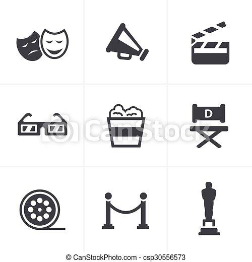 Movie Icons Vector design - csp30556573