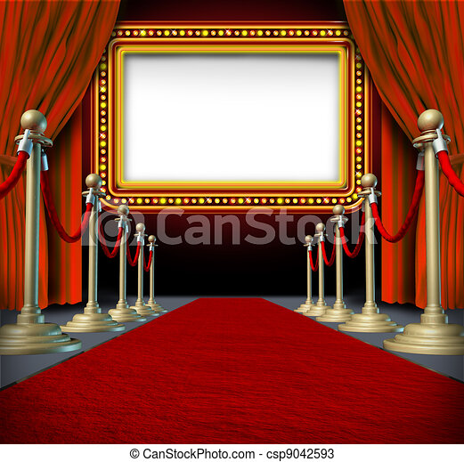 Movie Marquee Sign - csp9042593