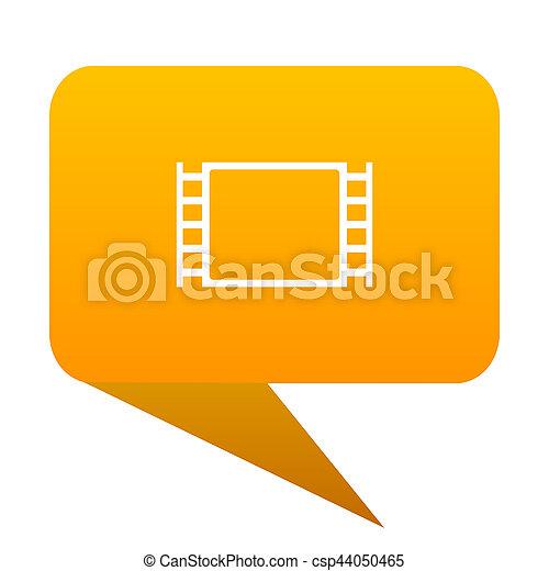 movie orange bulb web icon isolated. - csp44050465