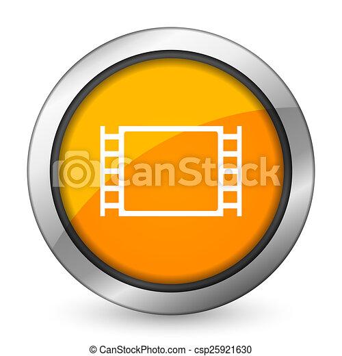 movie orange icon - csp25921630