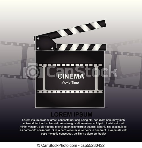 movie poster or flyer template online cinema background with film