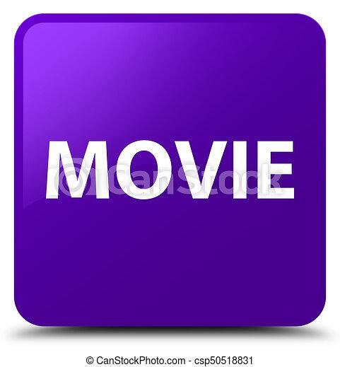 Movie purple square button - csp50518831