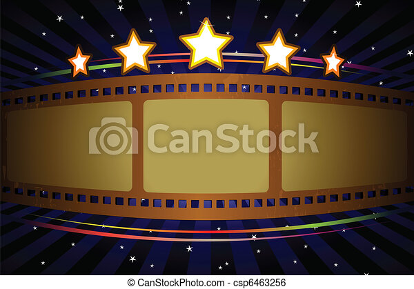 Movie Theater Background A Vector Illustration Of