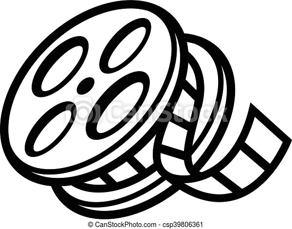movie theater cinema film reel unspooling clip art vector search rh canstockphoto com royalty free clipart movie reel hollywood movie reel clipart