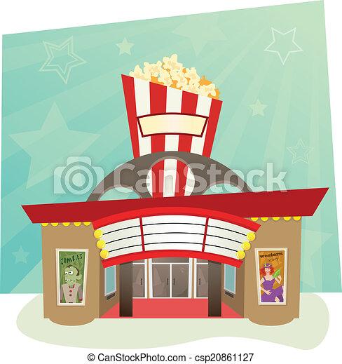 Cinema Building Clipart