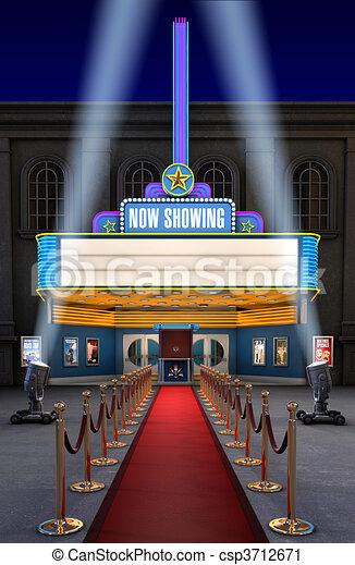 Movie Theatre & Ticket Box - csp3712671