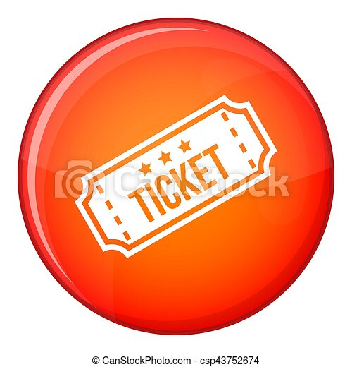 Movie ticket icon, flat style - csp43752674