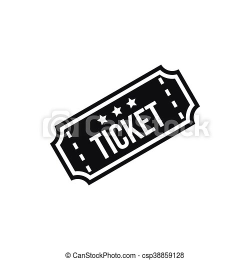 Movie Ticket Icon Simple Style Movie Ticket Icon In Simple Style