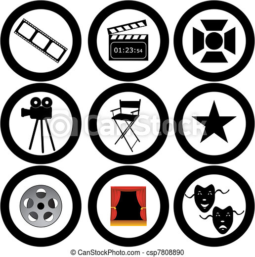 movie vector icons  - csp7808890