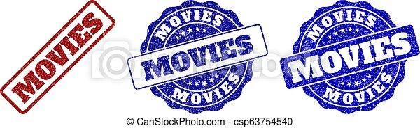 MOVIES Grunge Stamp Seals - csp63754540