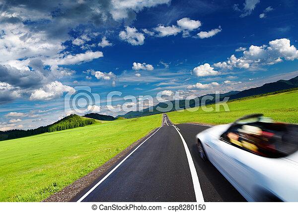 movimento, automobile, sport, offuscamento - csp8280150