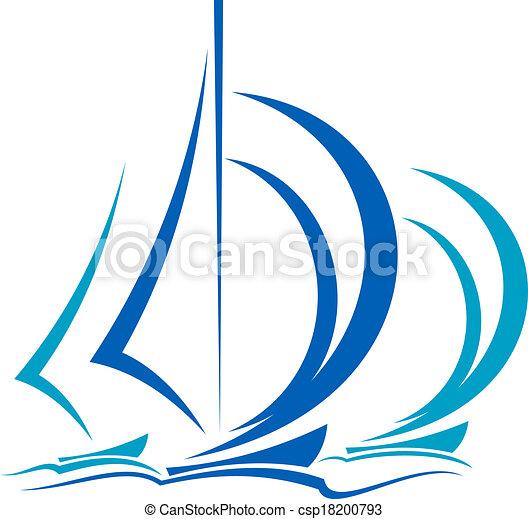 movimento, barche vela, dinamico - csp18200793