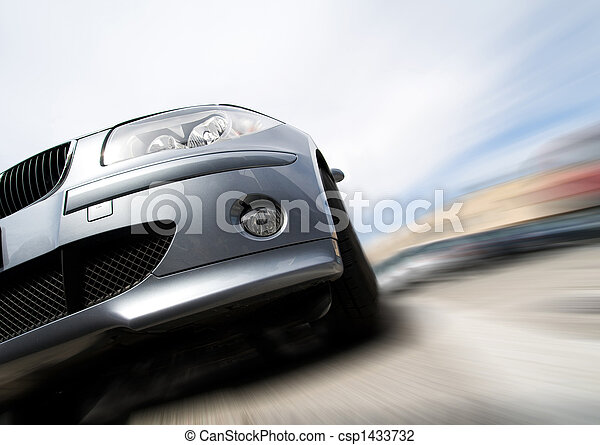 movimento, car, em movimento, rapidamente, borrão - csp1433732