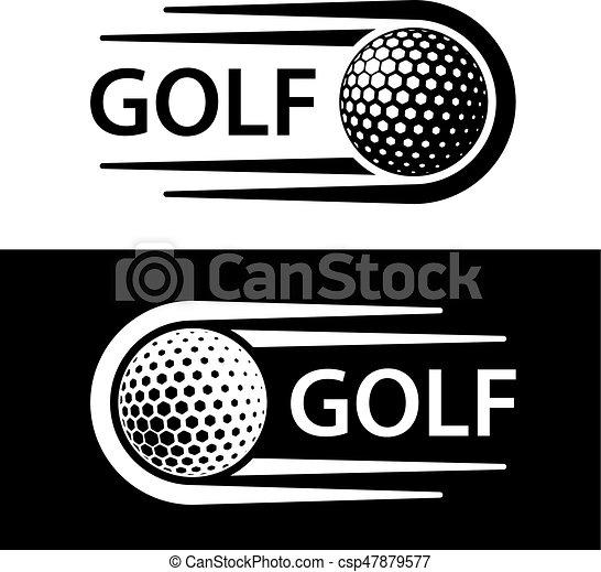 movimento, simbolo, linea, palla golf - csp47879577