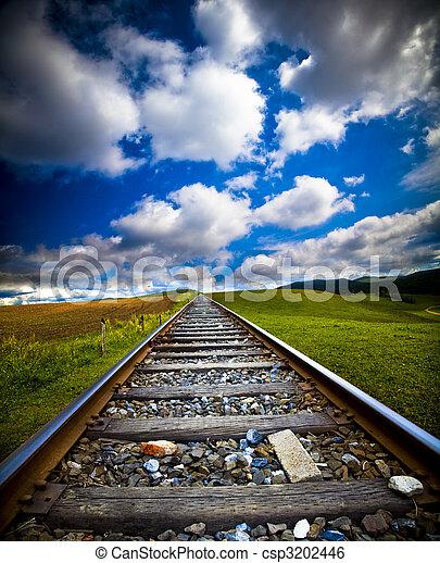 movimento, trem, borrão - csp3202446