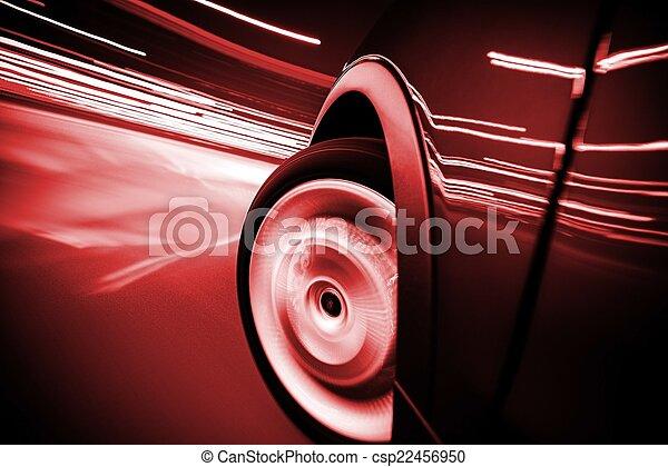 Las calles de la ciudad montan coches en movimiento - csp22456950