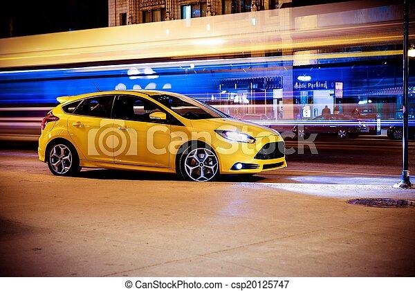 Deja el concepto del auto en movimiento - csp20125747