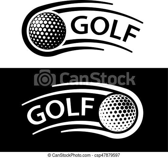 El símbolo de la línea de movimiento de pelota de golf - csp47879597