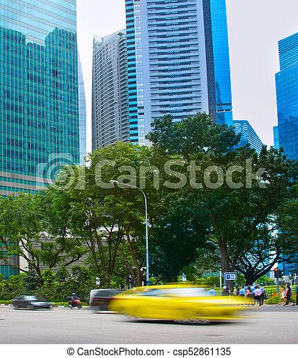 Tráfico rápido y borroso. Singapur - csp52861135