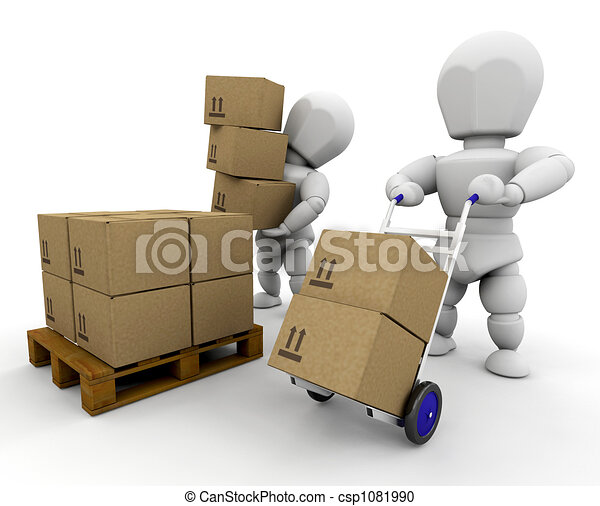 Moving boxes - csp1081990