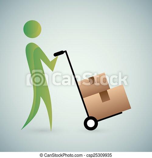Moving Boxes Icon - csp25309935