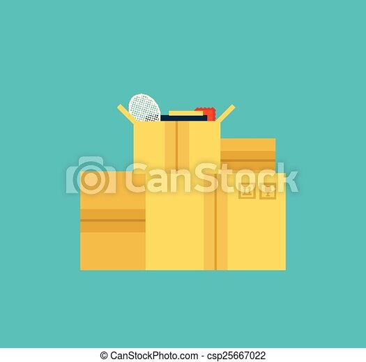 moving boxes - csp25667022