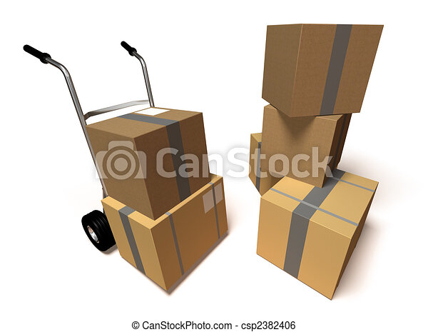 Moving boxes - csp2382406