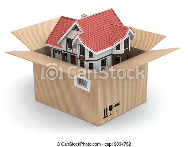 Moving house. Real estate market - csp19034762