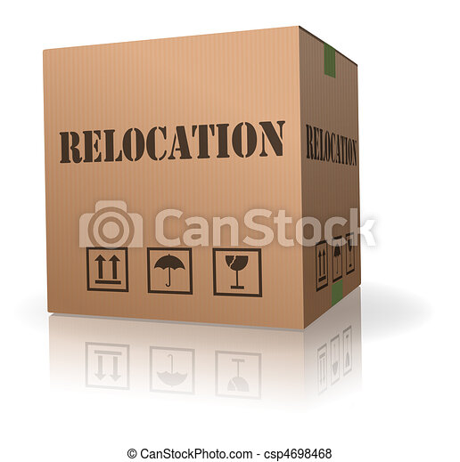 moving or relocation cardboard box - csp4698468