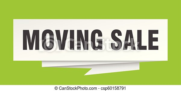 moving sale sign moving sale paper origami speech bubble moving