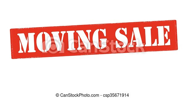 moving sale rubber stamp with text moving sale inside vector