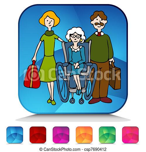 Moving Senior To Nursing Home Mosaic Crystal - csp7690412