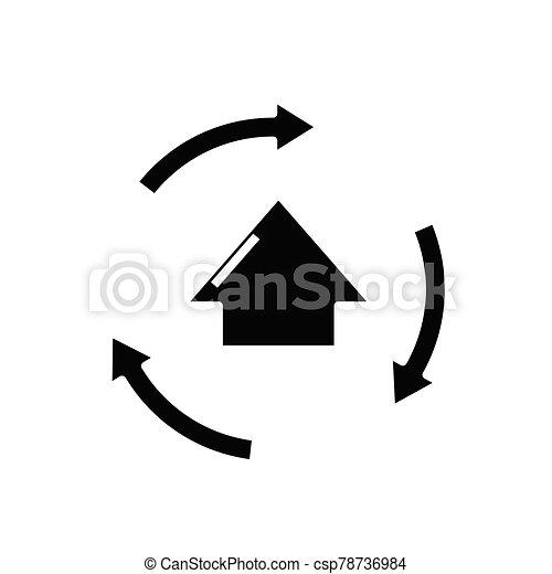 Moving task black icon, concept illustration, vector flat symbol, glyph sign. - csp78736984