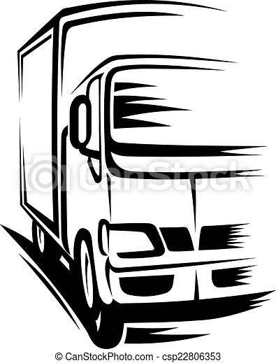 moving truck delivery truck moving on road for clipart vector rh canstockphoto ie