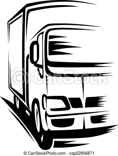 moving truck delivery truck moving on road for vectors rh canstockphoto com moving van clip art free moving van clip art free