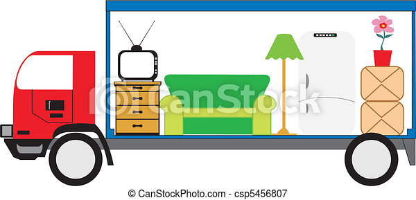 moving truck vector vectors illustration search clipart drawings rh canstockphoto com moving truck clip art free and printable moving truck clipart images