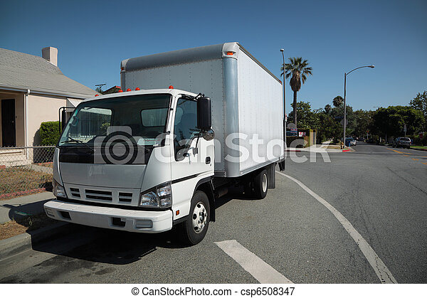 Moving truck on street - csp6508347