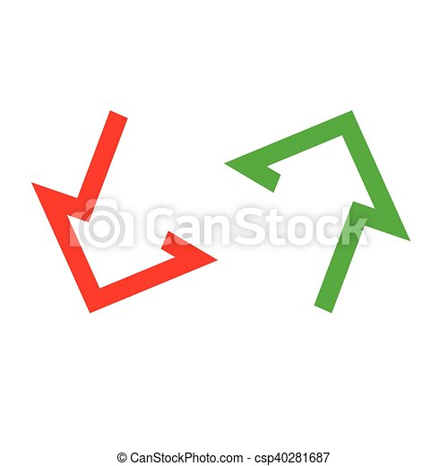 Moving up-down arrow