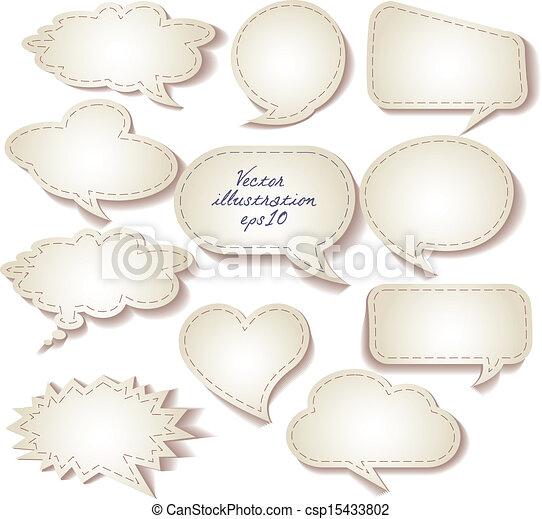 mowa, paper., cięty, komplet, bańki - csp15433802