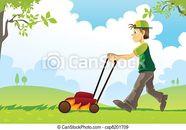 Mowing lawn - csp8201709