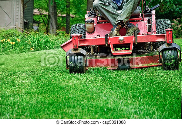 Mowing The Grass - csp5031008