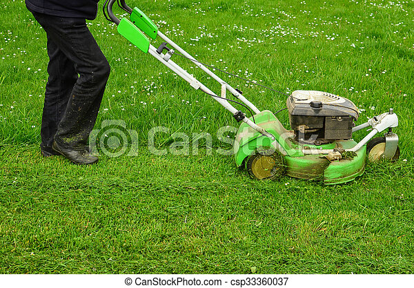 Mowing the grass - csp33360037