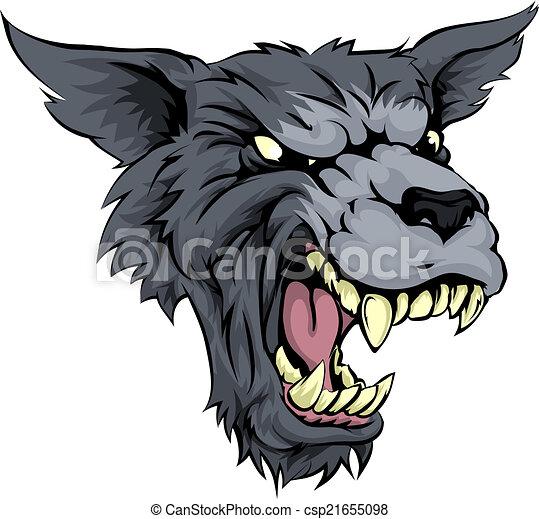 Moyenne loup ou loup garou grogner loup garou - Dessin loup garou ...