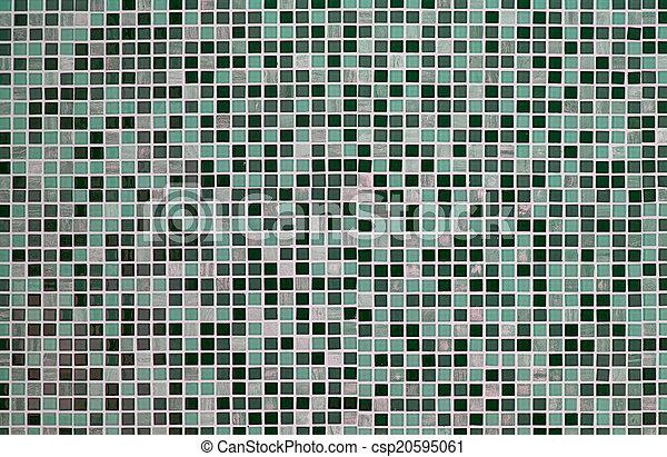 Groene Mozaiek Tegels : Mozaïek tegels groene retro achtergrond.