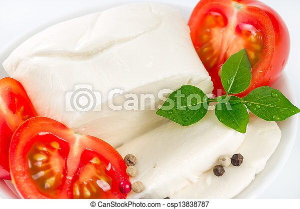 Mozzarella, tomatoes and basil   - csp13838787