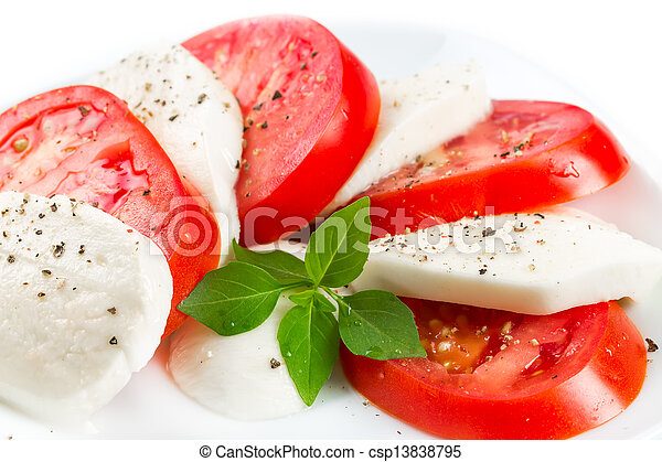 Mozzarella, tomatoes and basil  - csp13838795