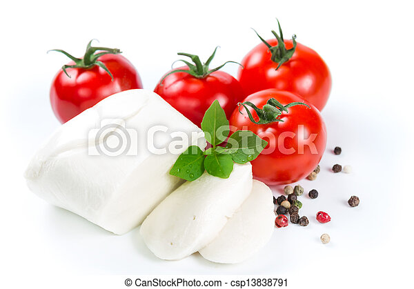 Mozzarella, tomatoes and pepper - csp13838791