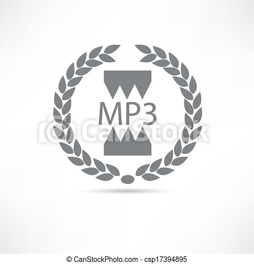 mp3 icon - csp17394895